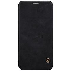 Недорогие Чехлы и кейсы для LG-Nillkin Кейс для Назначение LG V30 Бумажник для карт / Флип Чехол Однотонный Твердый Кожа PU для LG V30