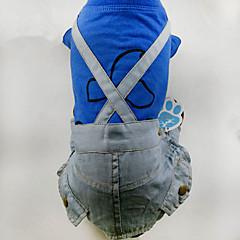 お買い得  犬用ウェア&アクセサリー-犬 ハーネス 犬用ウェア カジュアル/普段着 ストラップ柄 グレー イエロー ブルー コスチューム ペット用
