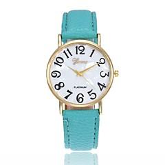 preiswerte Tolle Angebote auf Uhren-Herrn Damen damas Armbanduhr Quartz Armbanduhren für den Alltag Leder Band Analog Charme Modisch Schwarz / Weiß / Blau - Rosa Khaki Leicht Grün