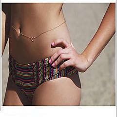abordables Joyería Corporal-Mujer Joyería Corporal Cinturones metálicos Sensual Elegant Legierung Corazón Joyas Para Festivos Noche