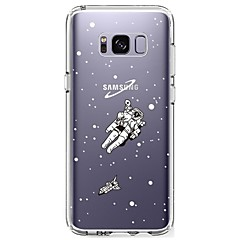 billige Galaxy S4 Mini Etuier-Etui Til Samsung Galaxy S8 Plus S8 Ultratyndt Transparent Mønster Bagcover Himmel Blødt TPU for S8 S8 Plus S7 edge S7 S6 edge plus S6