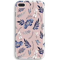 Case For iPhone X iPhone 8 Ultra-thin Transparent Pattern Back Cover Flower Soft TPU for iPhone X iPhone 8 Plus iPhone 8 iPhone 7 Plus