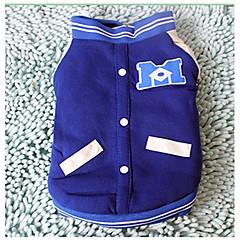 お買い得  犬用ウェア&アクセサリー-ネコ 犬 スウェットシャツ 犬用ウェア ソリッド ブルー コットン コスチューム ペット用 カジュアル/普段着