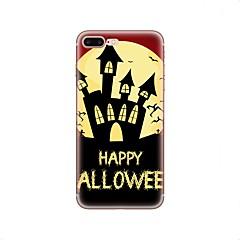 для случая крышка картины задняя крышка случая halloween мягкая tpu для яблока iphone x iphone 8 плюс iphone 8 iphone 7 плюс iphone 7