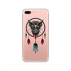 halpa iPhone 4s / 4 kotelot-Etui Käyttötarkoitus Apple iPhone X iPhone 8 Läpinäkyvä Kuvio Takakuori Uni sieppari Pöllö Pehmeä TPU varten iPhone X iPhone 8 Plus
