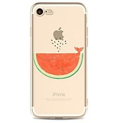 Кейс для Назначение Apple iPhone X iPhone 8 iPhone 8 Plus Ультратонкий Прозрачный С узором Задняя крышка Фрукты Мягкий TPU для iPhone X