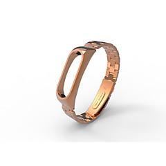 abordables Correas para Reloj-xiaomi mi banda 2 de acero inoxidable pulsera de lujo metal ultrafino nuevo correa de oro rosa