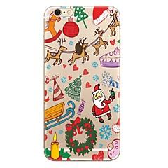Недорогие Кейсы для iPhone 5-Кейс для Назначение Apple iPhone X iPhone 8 iPhone 8 Plus Прозрачный С узором Кейс на заднюю панель Рождество Мягкий ТПУ для iPhone X