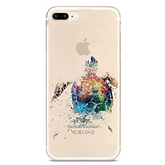 Etui Til Apple iPhone X iPhone 8 iPhone 8 Plus Ultratyndt Transparent Mønster Bagcover Dyr Blødt TPU for iPhone X iPhone 8 Plus iPhone 8