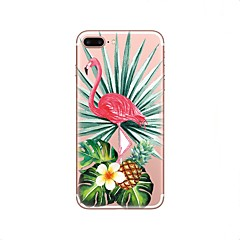 abordables Ofertas de Hoy-Funda Para Apple iPhone X / iPhone 8 Transparente / Diseños Funda Trasera Flamenco Suave TPU para iPhone X / iPhone 8 Plus / iPhone 8
