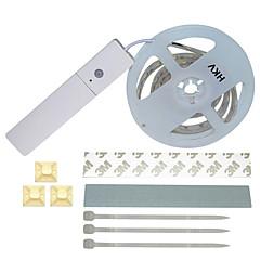 preiswerte LED Lichtstreifen-HKV 1m Flexible LED-Leuchtstreifen 60 LEDs 5050 SMD Warmes Weiß / Weiß Körpersensor 4.5 V / <5 V 1set