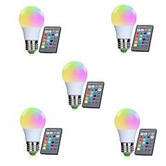 tanie Żarówki LED-5pcs 3W 250lm E26 / E27 Inteligentne żarówki LED 10 Koraliki LED SMD 5050 Czujnik podczerwieni / Przysłonięcia / Zdalnie sterowana RGBW