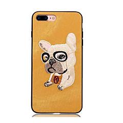 Кейс для Назначение Apple iPhone X iPhone 8 iPhone 8 Plus С узором Задняя крышка С собакой Твердый Текстиль для iPhone X iPhone 8 Plus