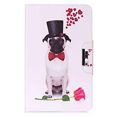 preiswerte Tablet-Hüllen-Hülle Für Samsung Galaxy Ganzkörper-Gehäuse / Tablet-Hüllen Hund / Mit Mustern Hart PU-Leder für Tab A 10.1 (2016)