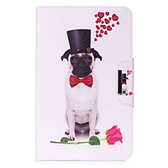 koiran kuvio kortin haltija lompakko stand flip magneettinen pu nahkakotelo samsung galaxy tab 10,1 t580n t585n 10,1 tuuman tabletti pc