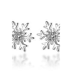 preiswerte Ohrringe-Damen Kubikzirkonia Ohrstecker - versilbert Blume Silber Für Zeremonie Valentinstag