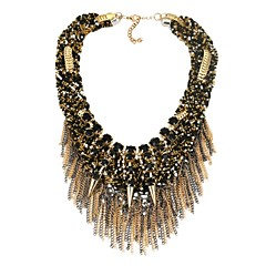 Women's Statement Necklaces Synthetic Diamond Geometric Alloy Sexy Classic Jewelry For Party Gift