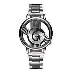 preiswerte Damenuhren-Herrn Damen Quartz Armbanduhr Armbanduhren für den Alltag Edelstahl Band Charme Modisch Silber