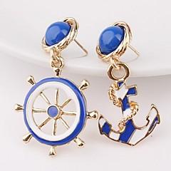 preiswerte Ohrringe-Damen Unterschiedliche Ohrringe - Anker Gold Für Geschenk / Ausgehen