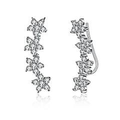 Γυναικεία Κουμπωτά Σκουλαρίκια Κρεμαστά Σκουλαρίκια Κρυστάλλινο Cubic Zirconia Ασήμι Στερλίνας Cubic Zirconia Geometric Shape Κοσμήματα