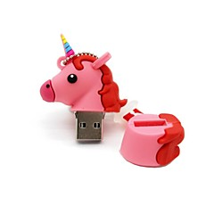 64 جيجابايت أوسب 2.0 الكرتون يونيكورن الحصان أوسب فلاش حملة القرص لطيف ذاكرة القلم حملة القلم هدية القلم محرك