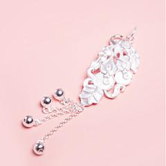 billige Vedhæng-Dame Glideperler Vedhæng Bladformet Smykker Sølv Sød Overdimensionerede Smykker Til Fest Afslappet