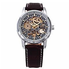 preiswerte Tolle Angebote auf Uhren-Herrn Automatikaufzug Mechanische Uhr / Armbanduhr Chinesisch Kalender / Chronograph / Wasserdicht / Transparentes Ziffernblatt Echtes