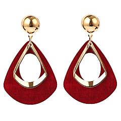 preiswerte Ohrringe-Damen Geometrisch Tropfen-Ohrringe / Gestlyte Ohrringe Vorne Hinten - Harz überdimensional Grau / Wein / Dunkelgrün Für Party / Geschenk