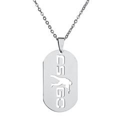 Недорогие Ожерелья-Муж. Геометрической формы Кулоны Нержавеющая сталь Кулоны , Для улицы