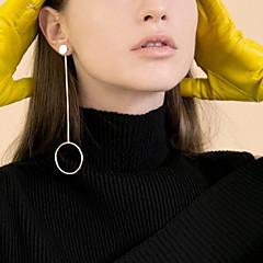 Χαμηλού Κόστους Σκουλαρίκια-Κρίκοι θαυμαστής σκουλαρίκια Κοσμήματα Χαλκός Κυκλικό Κρεμαστό Μοντέρνα Εξατομικευόμενο Euramerican Round Shape Χρυσό Ασημένιο Κοσμήματα