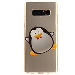 Недорогие Чехлы и кейсы для Galaxy Note Edge-Кейс для Назначение SSamsung Galaxy Note 8 Note 5 Ультратонкий Прозрачный С узором Задняя крышка Мультипликация Мягкий TPU для Note 8