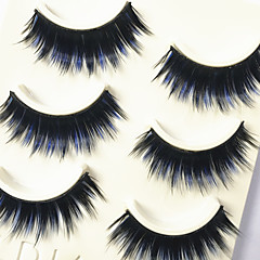 Cílios Cílios Tiras Completas de Cílios Olhos Grossa Colorido Volumizado Confeccionada à Mão Fibra Banda Preta 0.07mm 13mm