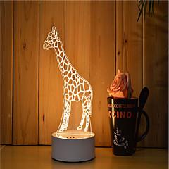 preiswerte Ausgefallene LED-Beleuchtung-1set 3D Nachtlicht Abblendbar Kreativ Farbwechsel Dekorativ LED-Lampe Künstlerisch LED Modern/Zeitgenössisch