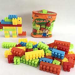Byggeklosser Leketøy Elefant Dyr Dyreformet Tekneserie Formet Dyr Familie Håndvesker Tegneserie Toy Tegneserie Design GDS 57 Deler