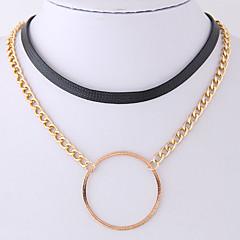 Жен. Ожерелья-бархатки Круглый Кожа Сплав Простой На каждый день Бижутерия Назначение Для вечеринок