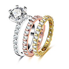 Жен. Массивные кольца Стразы Формальная На каждый день Elegant Cool Мода Сплав Геометрической формы Бижутерия Назначение Свадьба Обручение