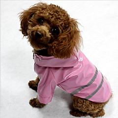 お買い得  猫の服-ネコ 犬 コート レインコート 防湿/防水型 反射バンド 犬用ウェア 縞柄 イエロー レッド ブルー テリレン コスチューム ペット用 防水 ライト付き トレンディー