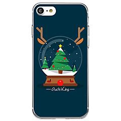Кейс для Назначение Apple iPhone 8 iPhone 8 Plus С узором Задняя крышка Мультипликация Рождество Мягкий TPU для iPhone X iPhone 8 Plus
