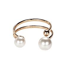 Жен. Браслет разомкнутое кольцо Искусственный жемчуг корейский Мода Сплав Круглый Бижутерия Назначение Свидание
