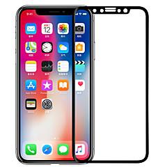 Недорогие Защитные пленки для iPhone X-Защитная плёнка для экрана Apple для iPhone X Закаленное стекло 1 ед. Защитная пленка на всё устройство 3D закругленные углы Антибликовое