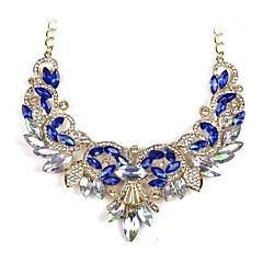 お買い得  ネックレス-女性用 ペンダント  -  クラシック ファッション 不規則な ホワイト ダークブルー ネックレス 用途 婚約 式典
