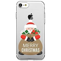 Кейс для Назначение Apple iPhone X iPhone 8 Plus С узором Задняя крышка Рождество Мягкий TPU для iPhone X iPhone 8 Plus iPhone 8 iPhone 7