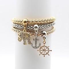 Dames Armbanden met ketting en sluiting Bergkristal Eenvoudig Elegant Legering Anker Olifant Sieraden Voor Dagelijks Uitgaan