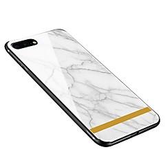 Недорогие Кейсы для iPhone 7 Plus-Кейс для Назначение Apple iPhone X iPhone 8 Plus С узором Кейс на заднюю панель Мрамор Мягкий Закаленное стекло для iPhone X iPhone 8