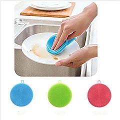 abordables Limpieza para la Cocina-cepillo de limpieza de silicona suave lavaplatos surtido de color