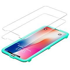Недорогие Защитные пленки для iPhone X-Защитная плёнка для экрана Apple для iPhone X Закаленное стекло 2 штs Защитная пленка для экрана Против отпечатков пальцев Защита от