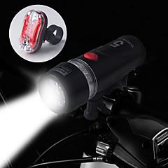 tanie Światła rowerowe-Światła rowerowe Tylna lampka rowerowa Przednia lampka rowerowa LED Kolarstwo Wodoodporne 14500 AA 100 Lumenów Bateria Kolarstwo