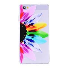voordelige Nieuw Binnengekomen-hoesje Voor Huawei P8 Lite (2017) P10 Lite Transparant Patroon Achterkantje Bloem Zacht TPU voor Huawei P10 Lite Huawei P9 Lite Huawei P8