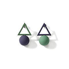 preiswerte Ohrringe-Damen Nicht übereinstimmend Ohrstecker - Kugel Koreanisch, Süß, Mehrfarbig Grün Für Geburtstag Verlobung Alltag