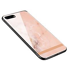Недорогие Кейсы для iPhone 7 Plus-Кейс для Назначение Apple iPhone X / iPhone 8 Plus С узором Кейс на заднюю панель Мрамор Мягкий Закаленное стекло для iPhone X / iPhone 8 Pluss / iPhone 8